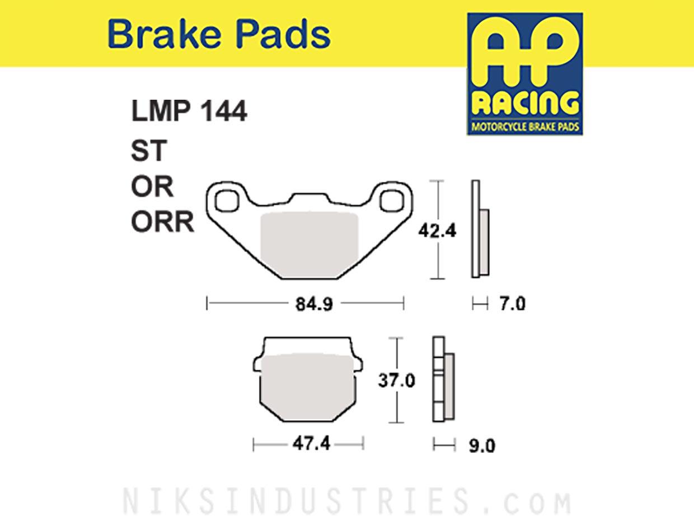 AP Racing 144ORR Brake Pads