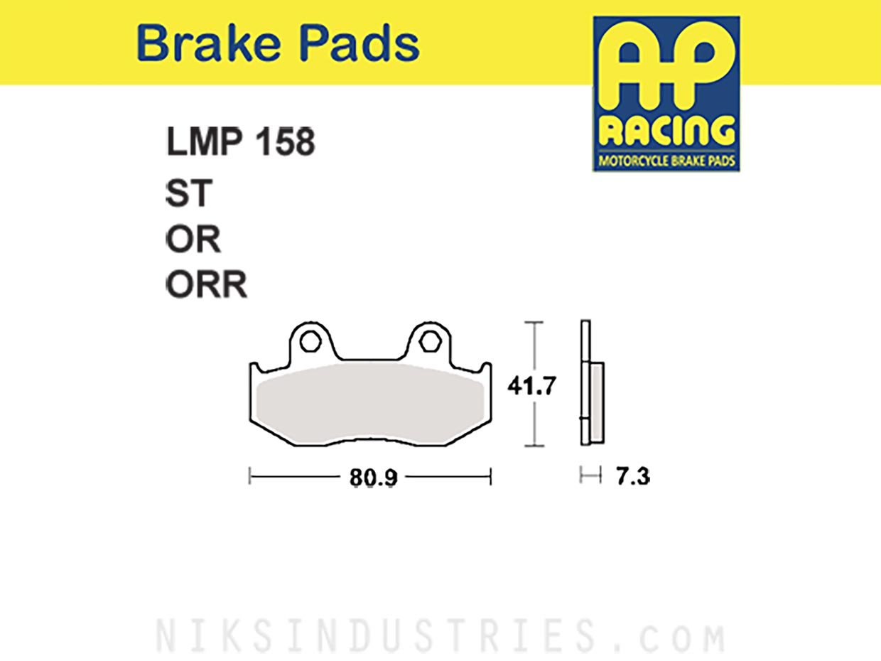 AP Racing 158OR Brake Pads