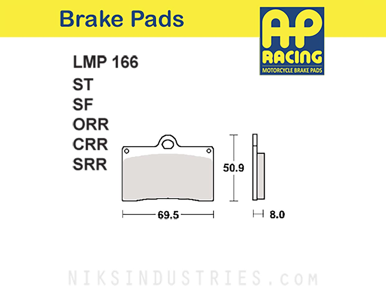 AP Racing 166ORR Brake Pads