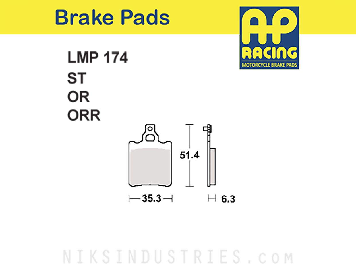 AP Racing 174ORR Brake Pads