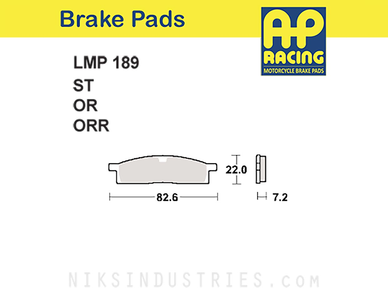 AP Racing 189OR Brake Pads