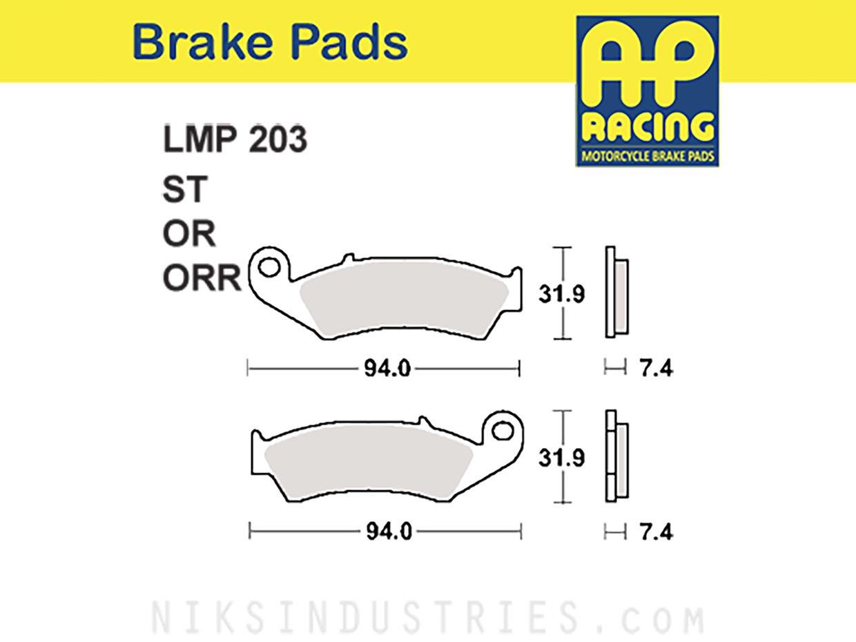 AP Racing 203OR Brake Pads