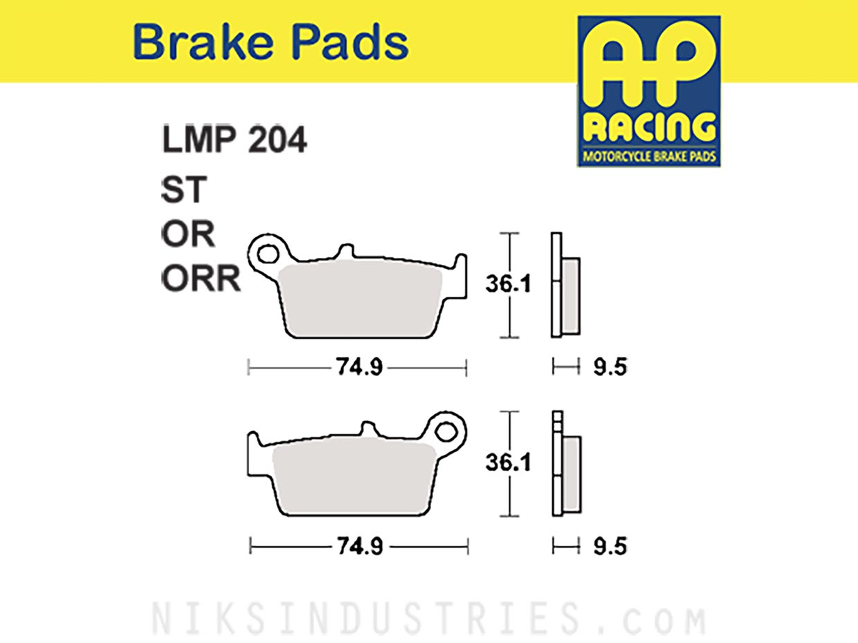 AP Racing 204ORR Brake Pads