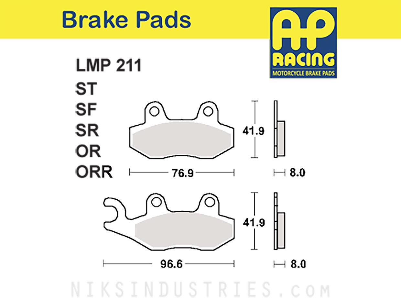 AP Racing 211OR Brake Pads