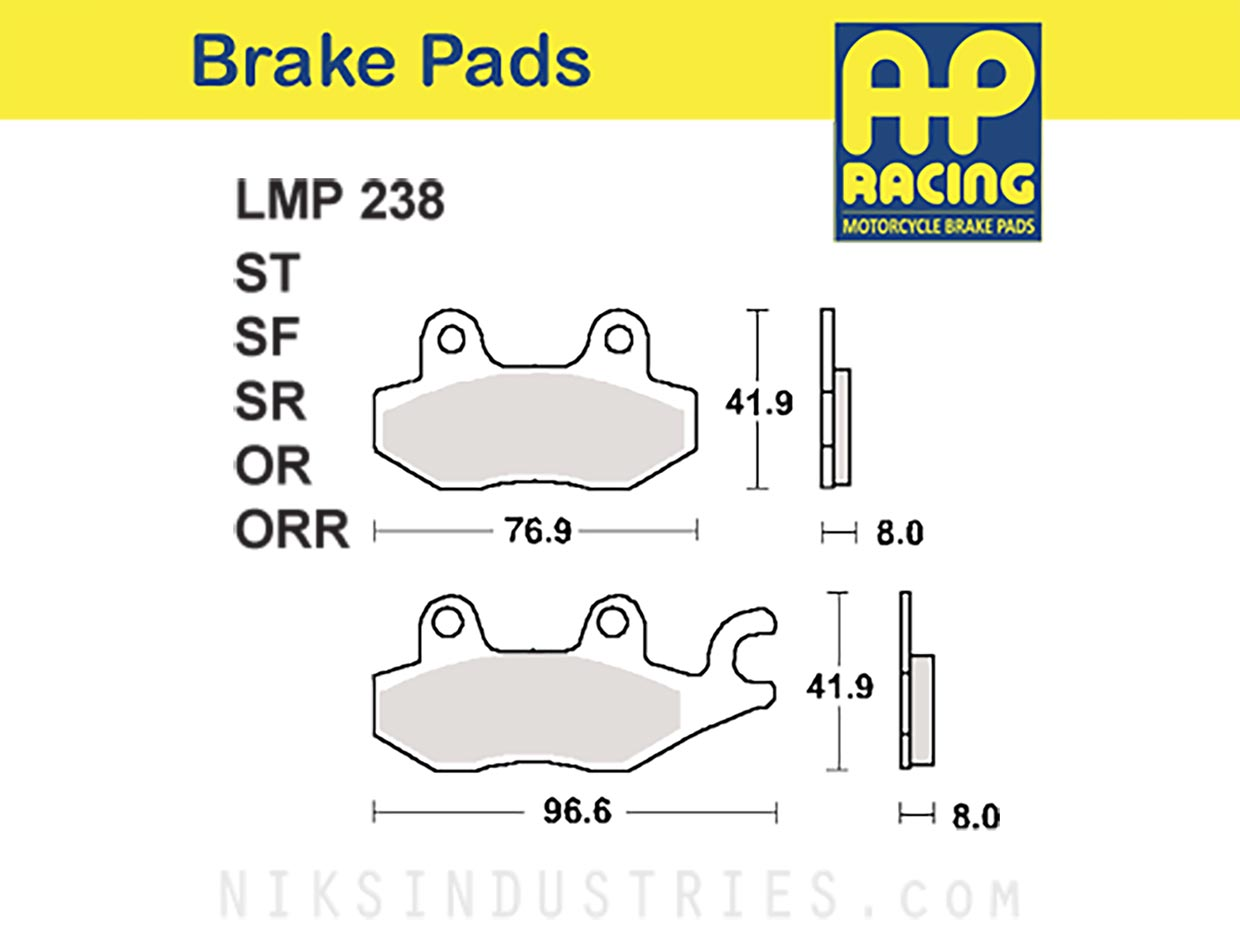 AP Racing 238OR Brake Pads