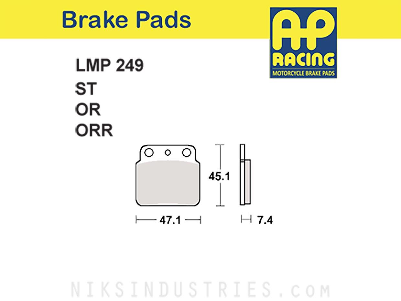 AP Racing 249OR Brake Pads