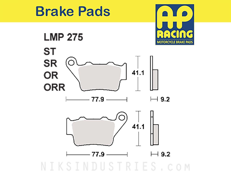 AP Racing 275ORR Brake Pads