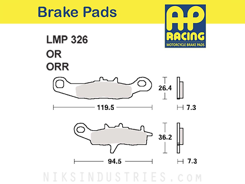 AP Racing 326ORR Brake Pads