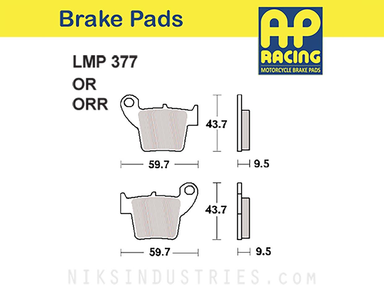AP Racing 377ORR Brake Pads