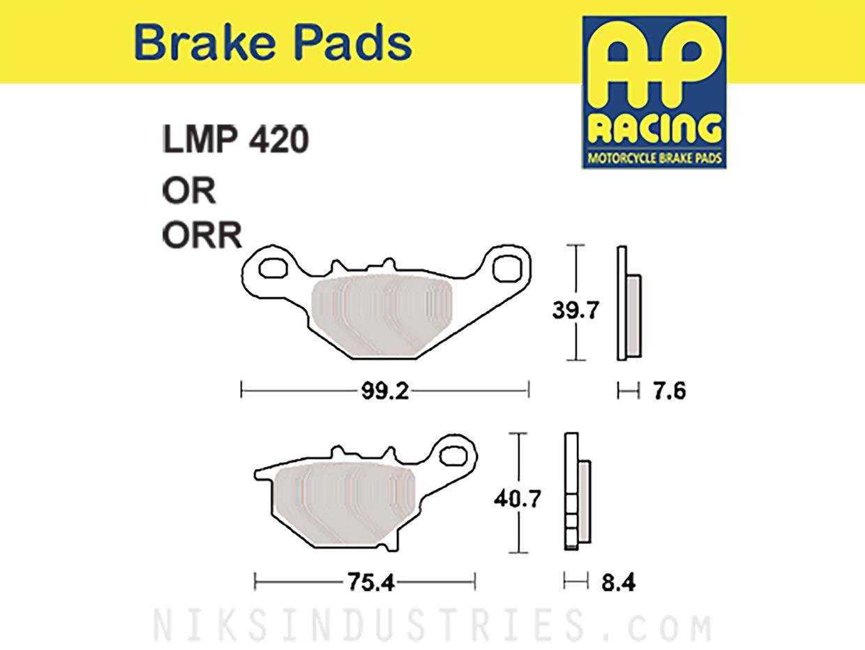 AP Racing 420ORR Brake Pads