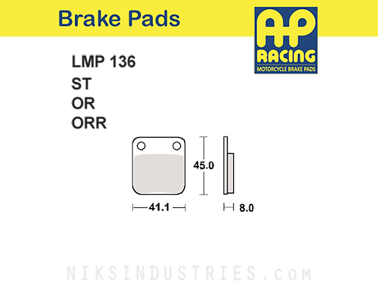 AP Racing 136OR Brake Pads